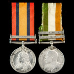 A South Africa Boer War pair awarded to Private A. Nash, 2nd Battalion, The Queen's (Royal West S...