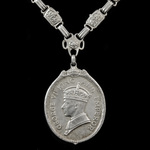 King's Medal for Native Chiefs, GVI bust, 1st Class in Silver-Gilt, neck badge complete with link...