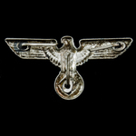 Germany – Third Reich: NSDAP Political Visor Cap Eagle, silvered brass alloy form, RZM marked M1/...