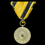 Austria – Empire: Honour Medal for 40 Years Faithful Service in bronze-gilt for Officers on trifo...