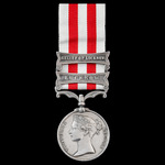 Indian Mutiny Medal 1857-1858, 2 Clasps: Lucknow, Relief of Lucknow, awarded to Private Frederick...