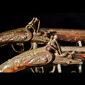 Ottoman Empire - A very fine and rare matching pair of late 18th Century Presentation Ottoman Fli...
