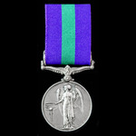 General Service Medal 1918-1962, GVI 1st type bust, 1 Clasp: Palestine 1945-48, awarded to Privat...