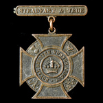 Royal British Nurses Association Membership Badge, bronze, complete with 'Steadfast & True' suspe...