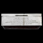 Victoria Cross and Second World War Pioneer Corps associated Silver Presentation Cigarette Box, a...