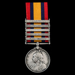 Queen's South Africa Medal 1899-1902, 5 Clasps: Cape Colony, Relief of Kimberley, Paardeberg, Ora...