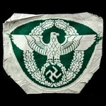 Germany - Third Reich: German Police Sports Vest Large Cloth Eagle in Wreath Badge, green bevo we...