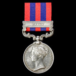 India General Service Medal 1854-1895, 1 Clasp: Perak awarded to Private G. Green, 1st Battalion,...