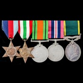 Second World War Italian Campaign and Territorial long service group awarded to Private J. Warren...