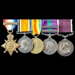 Great War 1914 Old Contemptible, Iraq Rebellion and North West Persia Noperforce long service gro...