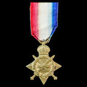 A Battle of Arras casualty 1914-1915 Star awarded to Private T. Brooks, 6th Battalion, Oxfordshir...