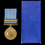 Ethiopia – United Nations Medal for Korea in original cardboard box of issue