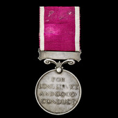 Regular Army Long Service and Good Conduct Medal, GVI 1st type bust, awarded to Sergeant C. Court...
