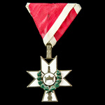 Croatia – Independent State: Order of the Crown of King Zvonimir, 3rd class breast badge with wre...