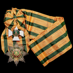Luxembourg: Order of the Oak Crown 1st Class, Grand Cross Set, including Sash Badge, 57mm, in sil...