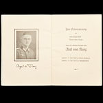 Germany – Third Reich: A remarkable and unusual commemorative death certificate relating to Leutn...