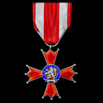 Czechoslovakia: Military Order of the White Lion, 3rd Class, 2nd type 1945-1946, silver and ename...