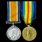 Great War pair awarded to Private W.E. Davies, Northumberland Fusiliers, later 4th Battalion, Yor...
