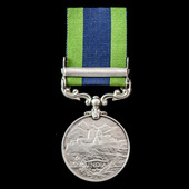 India General Service Medal 1908-1935, 1 Clasp: North West Frontier 1935 awarded to Private D. Go...