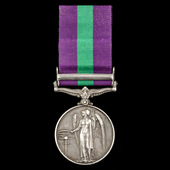 General Service Medal 1918-1962, GVI, 1 Clasp: Palestine 1945-48 awarded to Private G. Roberts, 8...