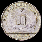 France: Paris 1723 Token for the Corporation of Booksellers and Printers -Corporation des Librair...
