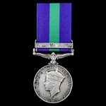 General Service Medal 1918-62, GVI, 1 Clasp: Palestine 1945-48 to Sergeant D.R. Wright, 6th (Fiel...