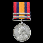 Queen's South Africa Medal 1899-1902, 2 Clasps: Cape Colony, Orange Free State, awarded to Privat...
