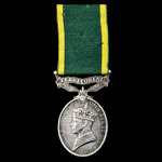 Second Battle of El Alamein October 1942 Casualty Efficiency Medal, GVI 1st type bust, Territoria...