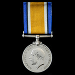 British War Medal 1914-1919, awarded to Private C. Chidgey, 6th Service Battalion, Somerset Light...
