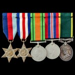 Second World War North West Europe and Territorial Long Service Group awarded to Private G. Kesse...