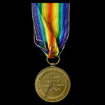 Victory Medal awarded to Gunner H.R. Goodwin, Royal Field Artillery, who saw service out on the W...