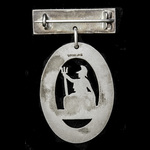 Overseas Nursing Association 1896 Cape Badge with dated bar for 1927, silver.