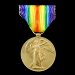 Victory Medal awarded to Rifleman G.C. Topley, 7th Service Battalion, King's Royal Rifle Corps, w...