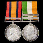 South Africa Boer War Officer's pair awarded to Captain F.W. Jones, South African Mounted Irregul...