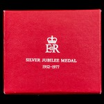 Jubilee Medal 1977, mounted on ladies bow ribbon as issued, housed in its original box of issue f...