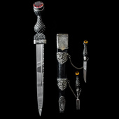 Great Britain - A good 19th Century period Scottish Piper's Dirk of generic pattern, unmarked Sco...