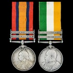 South Africa Boer War Relief of Ladysmith pair awarded to Private H. Clines, 1st Battalion, Royal...