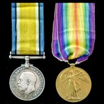 Great War casualty pair awarded to Gunner J. Tinkler, 537th Howitzer Battery, Royal Field Artille...