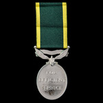 Efficiency Medal, GVI 1st type bust, Territorial suspension, awarded to a woman, Serjeant L. Brya...