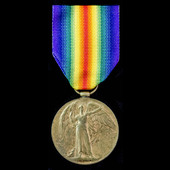 Great War Battle of Jutland Distinguished Service Medal recipient's Victory Medal, awarded to Chi...