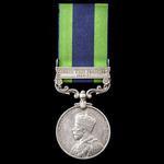 India General Service Medal 1908-1935, 1 Clasp: North West Frontier 1930-31, awarded to Private F...