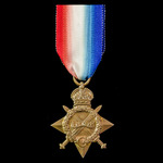1914-1915 Star, awarded to Greaser H. Hall, Merchant Fleet Auxiliary, who was possibly a Second W...