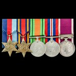 Second World War Burma campaign and Regular Army long service group awarded to Warrant Officer 2n...
