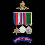 Second World War Fall of France 1940 Prisoner of War and Territorial long service group awarded t...