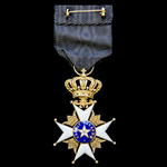 Sweden: Royal Order of the Polar Star, 5th Grade, Knight, in gold and enamels. Circa 1910. An exc...