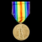 Victory Medal awarded to Corporal F. Wormleighton, 10th Service Battalion, Lancashire Fusiliers, ...