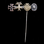 Germany - Imperial: Stick pin medal pin for a First World War veteran and recipient of the Iron C...