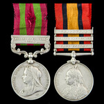 India Relief of Chitral 1895 and South Africa Boer War Mounted Infantryman's pair awarded to Priv...