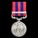 India General Service Medal 1854-1895, 1 Clasp: Perak awarded to Private T. Mahoney, 1st Battalio...