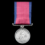A good Waterloo Medal 1815, fitted with original steel clip and modified straight bar suspension,...